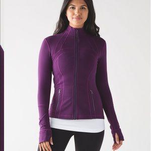 $128 Lululemon yoga define purple jackets sz 8